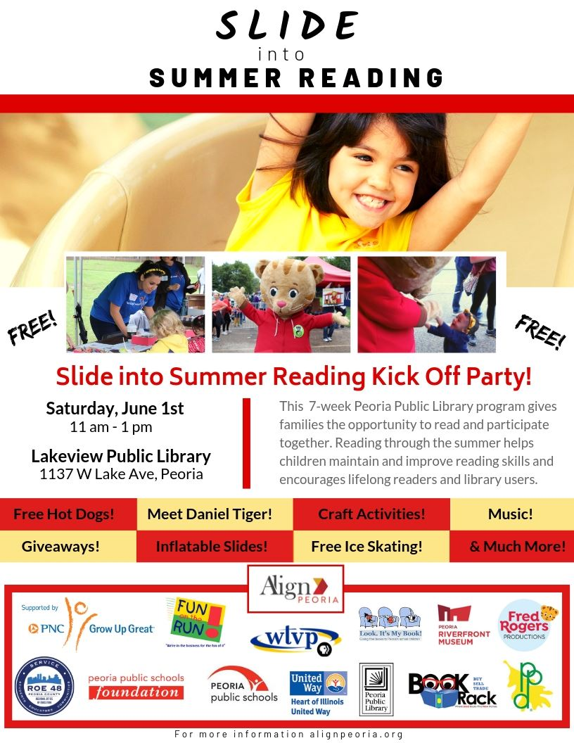 Slide into Summer Reading Poster