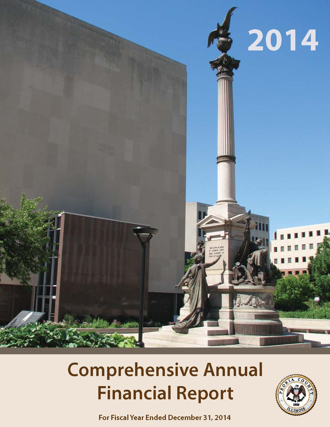 Comprehensive Annual Financial Report Cover 2014