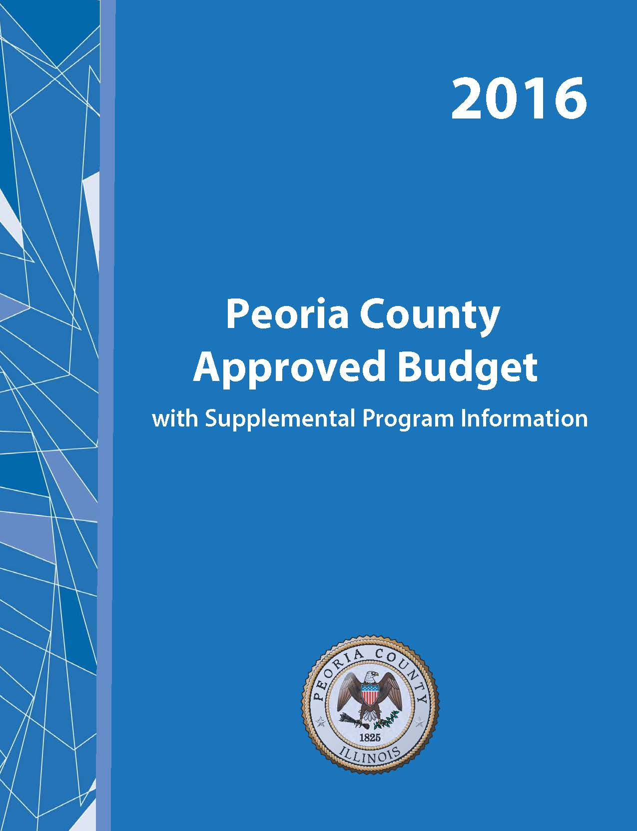 2016 Adopted Budget Cover